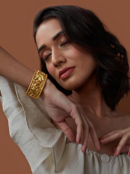 Crumpled Gold Bracelet