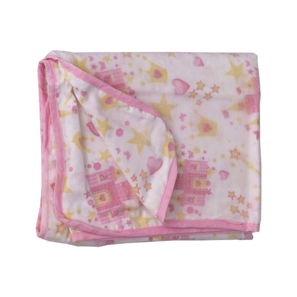 DOUBLE LAYER COMFORTER PINK
