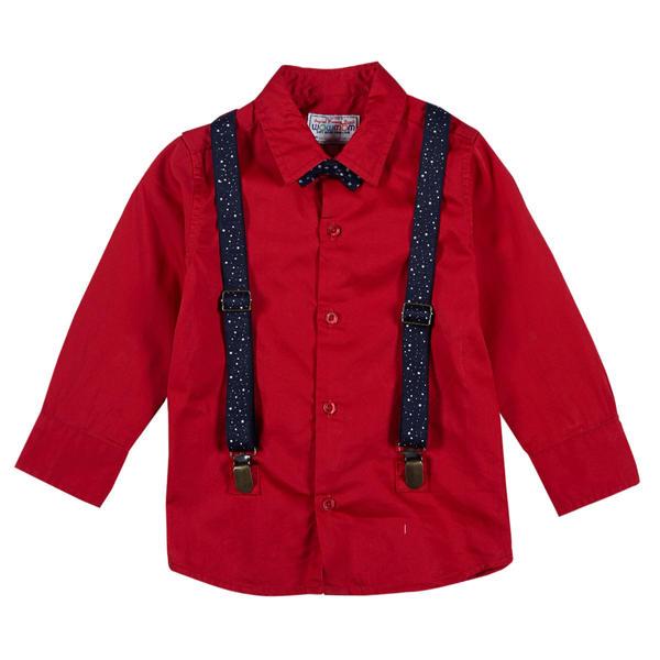 WMB FIERY RED BOYS SHIRTS OB OOTY SHI