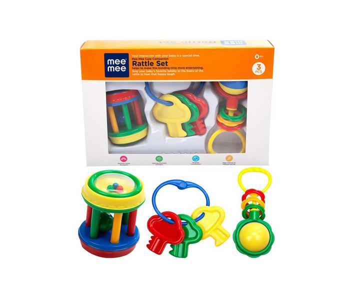 Mee Mee Baby Rattle Gift Set (3 Pieces)
