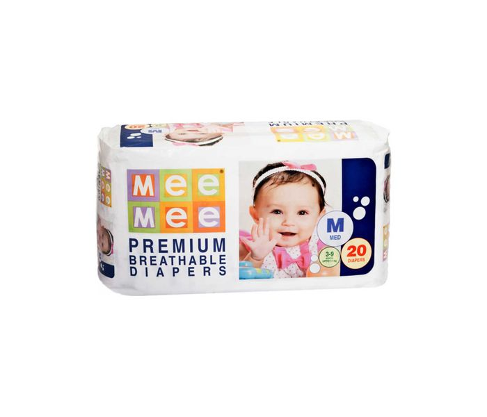 Mee Mee Premium Medium Size Diapers (20 Count)