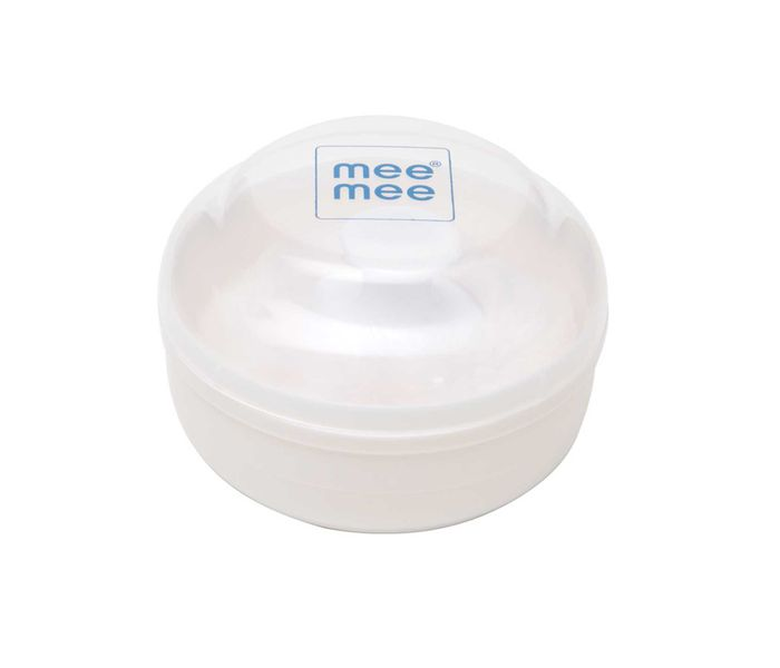 Mee Mee Premium Powder Puff with Powder Storage (White)