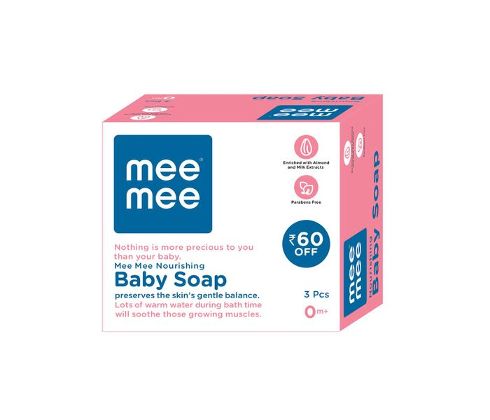Mee Mee Nourishing Baby Wellness Soap (Pack of 3)