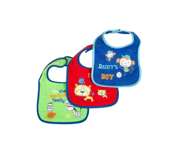 Mee Mee Baby Drooler Bib (Multicolour, Pack Of 3)