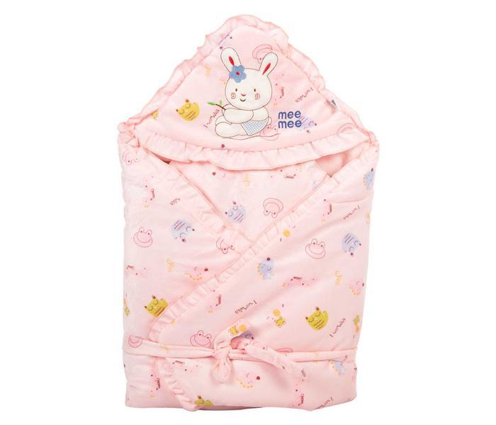 Mee Mee Baby Wrapper Blanket with Hood – Pink