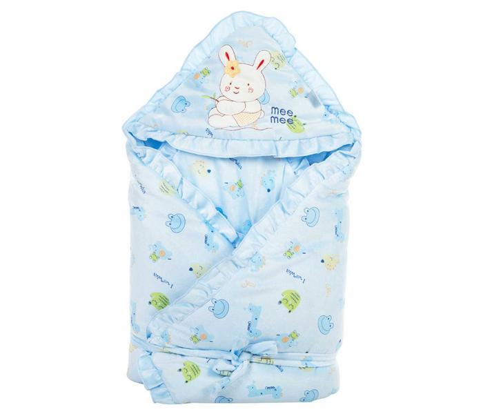 Mee Mee Baby Wrapper Blanket with Hood – Blue