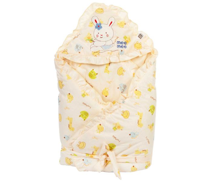 Mee Mee Baby Wrapper Blanket with Hood – Yellow