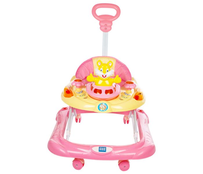 Mee Mee Safety Baby Walker with Adjustable Height (Pink)