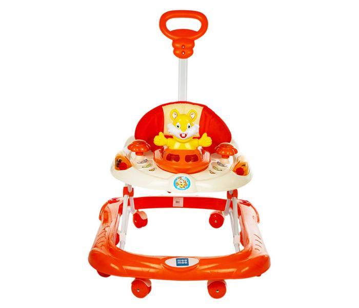 Mee Mee Safety Baby Walker with Adjustable Height (Orange)