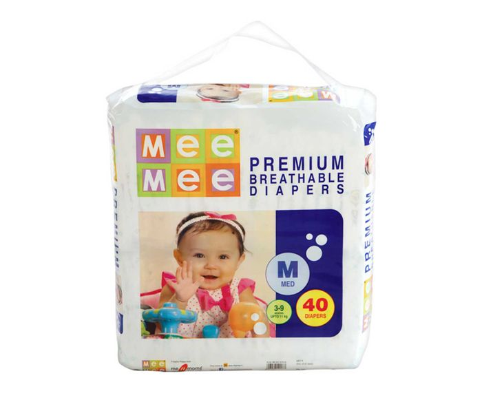 Mee Mee Premium Diapers (Medium, 40 Count)