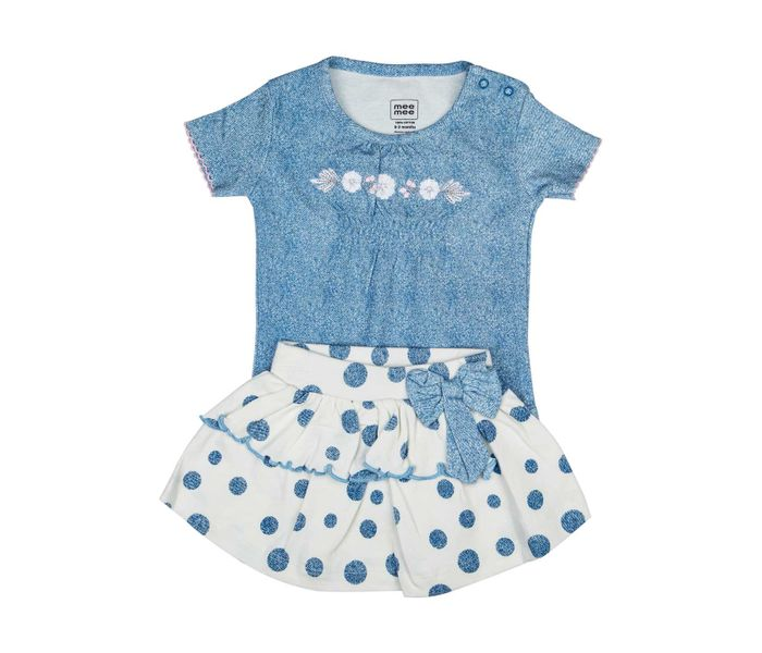MEE MEE SHORT SLEEVE GIRLS SKIRT SET