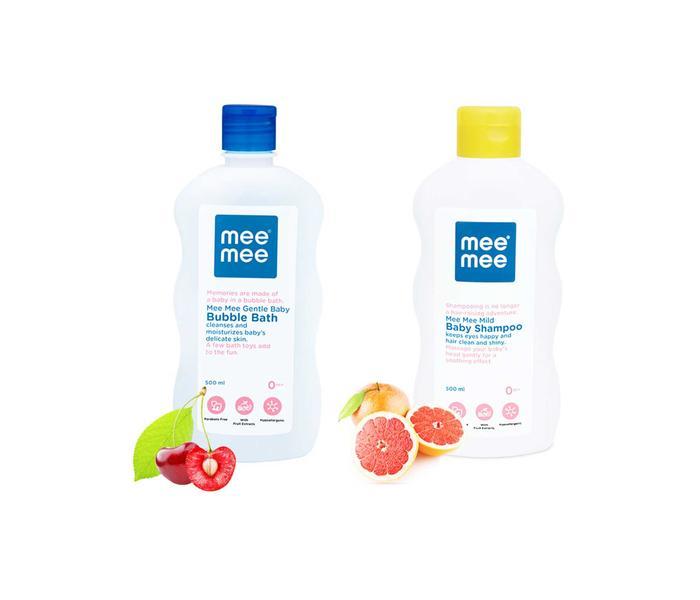 Mee Mee Gentle Baby Bubble Bath and Mild Baby Shampoo (500 ml)