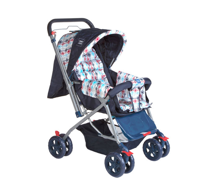 Mee Mee Baby Pram with Adjustable Seating Positions and Reversible Handle, Red