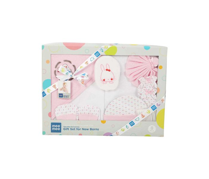 Mee Mee Pampering Gift Set for New Born (8 Pieces)