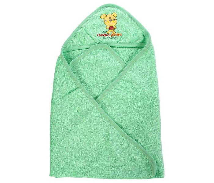 Mee Mee Soft Absorbent Baby Towel With Hood (Green)