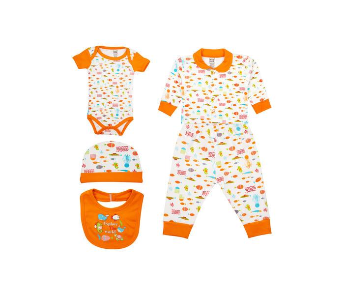 Mee Mee Unisex Gift Set Pack Of 5 (Orange)