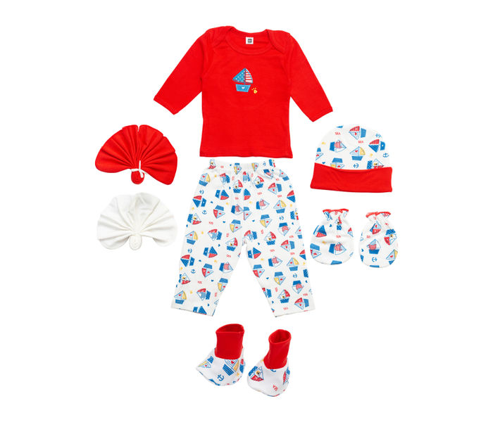 Red Pampering Apparel Gift Set for New Born