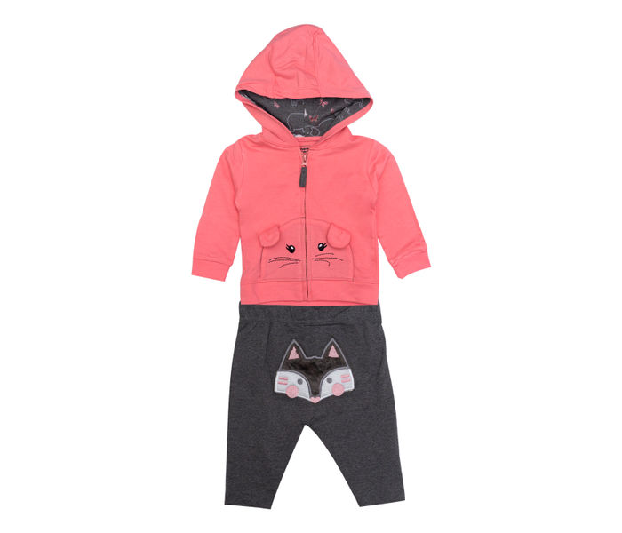 Mee Mee Full Sleeve Floral Printed Top & Jacket With Legging Set (Pink)
