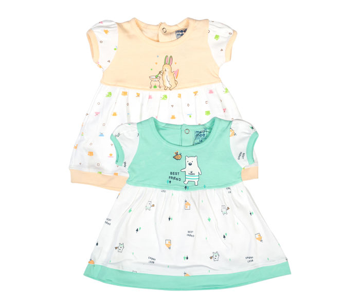 Mee Mee Kids Girls Printedfrocks Pack Of 2