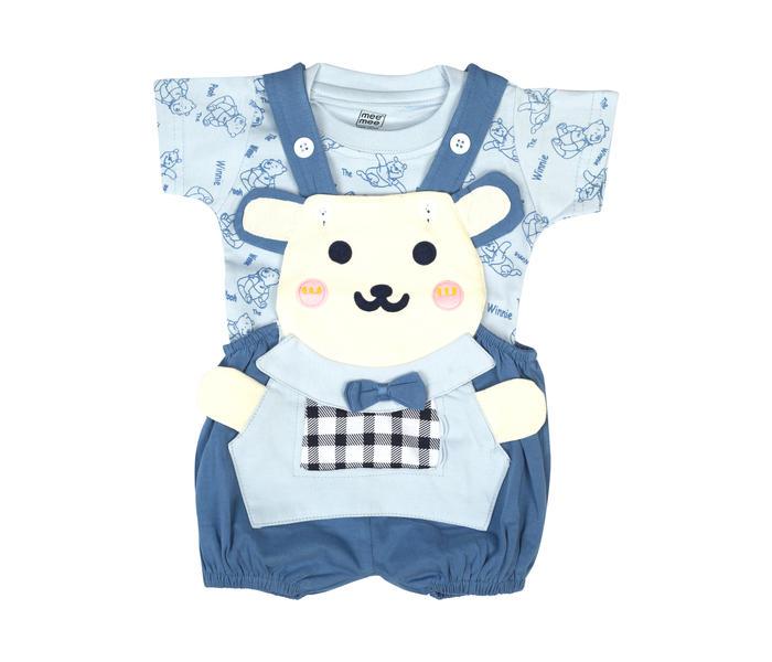Mee Mee Short Sleeve Printed Tee Bear Dungaree Set