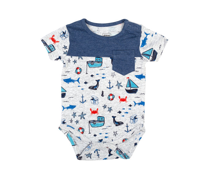 Mee Mee Short Sleeve Boys Bodysuit