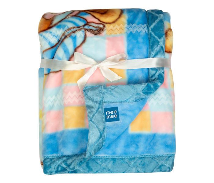 Mee Mee Soft Baby Blanket, Bunny, Regular, Dark Blue