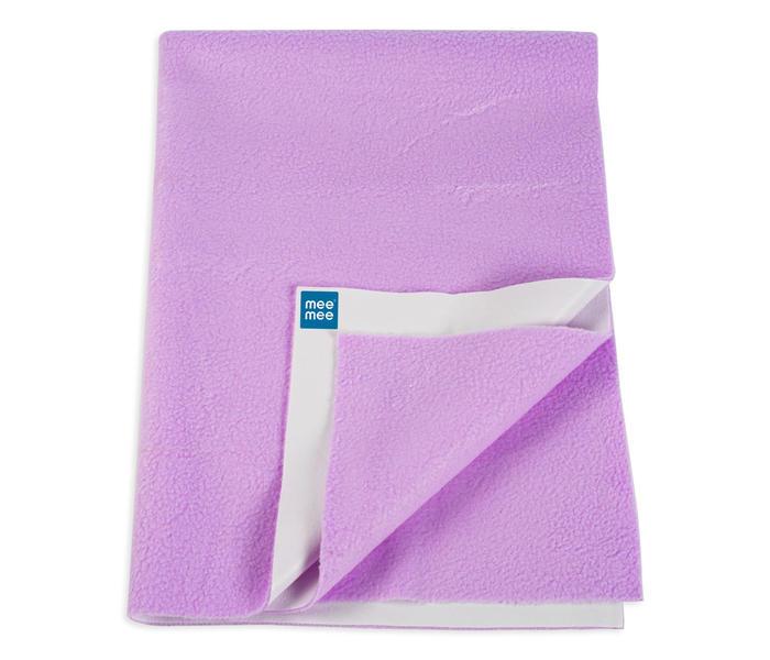 Mee Mee Baby Waterproof Bed Protector Total Dry Sheets – (Purple)