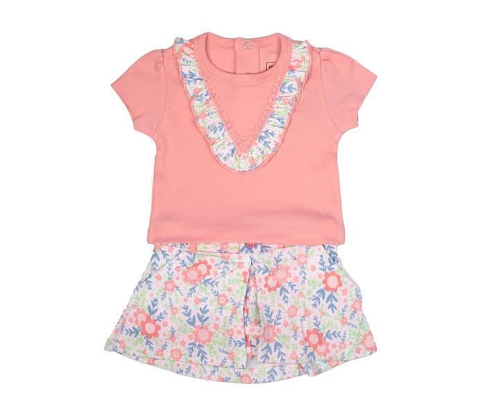 Mee Mee Kids Pink Floral Skirt Set