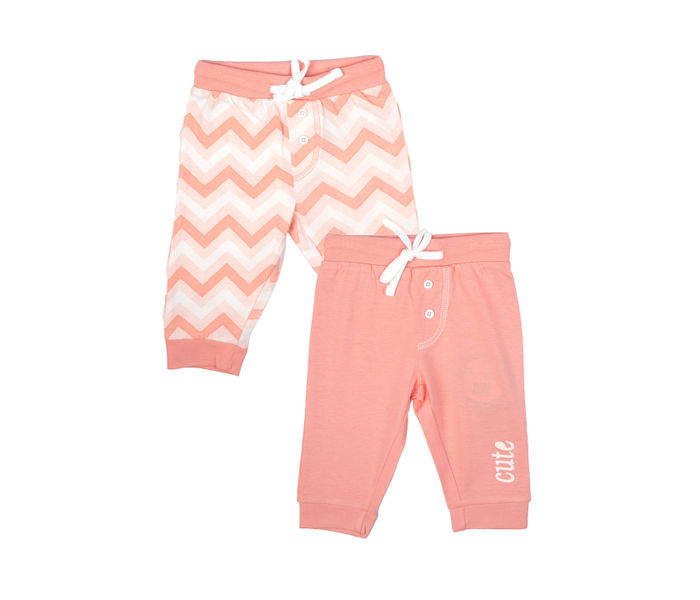 Mee Mee Kids Pink Stripes Track Pants - Pack Of 2