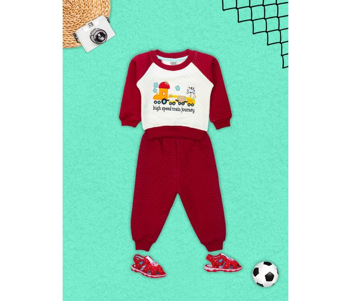 Mee Mee Baby Legging Set – Offwhite And Maroon