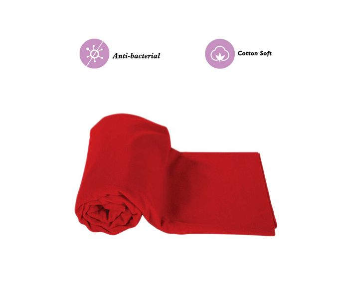Mee Mee Baby Total Dry and Breathable Mattress Protector Sheet – (Red)