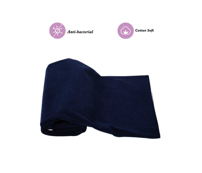 Mee Mee Baby Total Dry and Breathable Mattress Protector Sheet – (Navy Blue)
