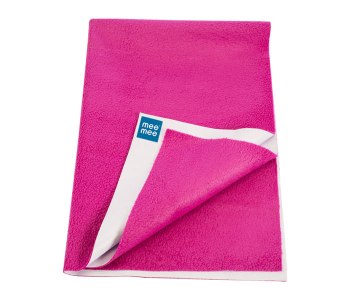 Mee Mee Baby Total Dry and Breathable Mattress Protector Sheet – (Rani Pink)