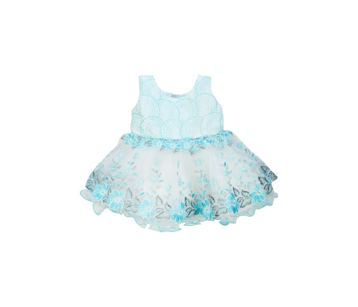 Mee Mee Baby Frilly Party Frock – Blue & White