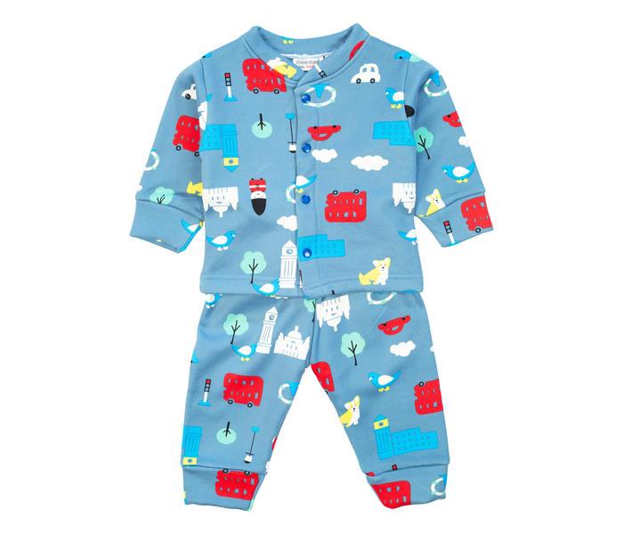 Mee Mee Baby Printed Night Suit – Light Blue