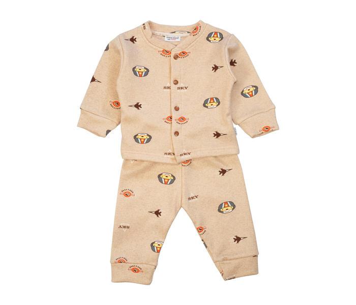 Mee Mee Baby Printed Night Suit – Light Brown