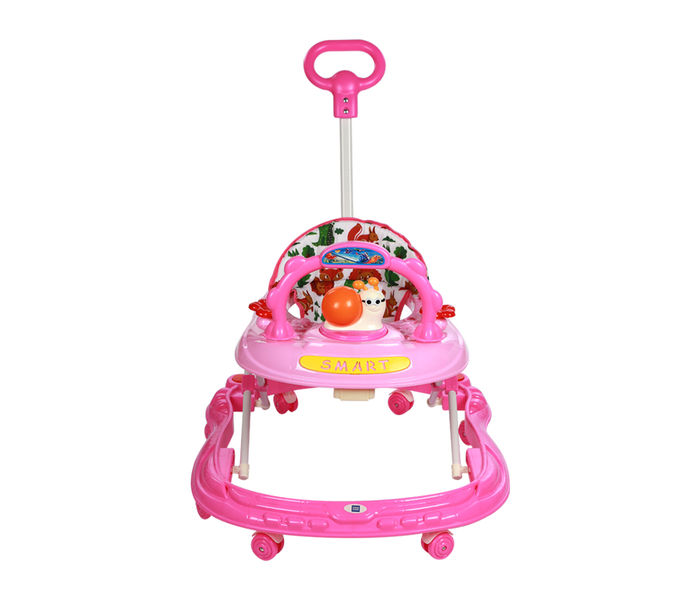 Mee Mee Simple Steps Baby Walker With Push Handle (Pink)