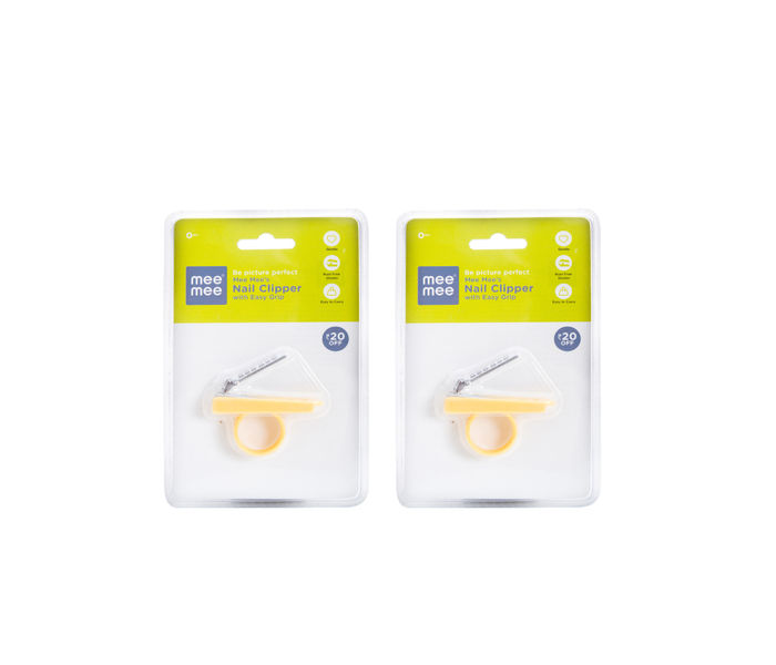 Mee Mee Gentle Nail Clipper (Pack of 2, Yellow)