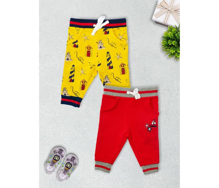 Mee Mee Boys Pack Of 2 Leggings ? Yellow & Navy