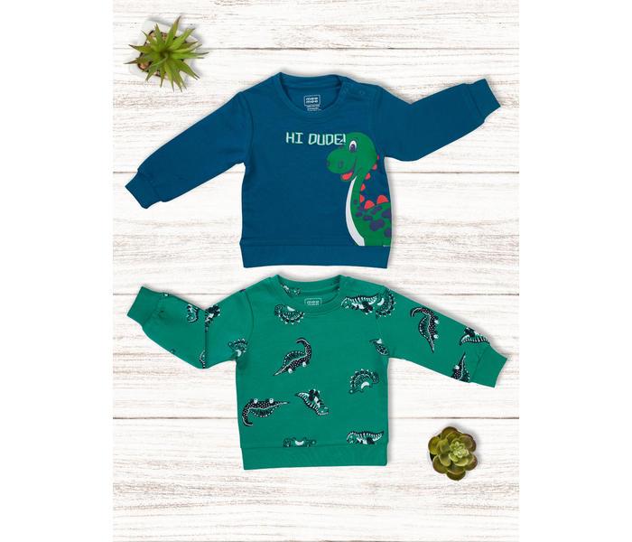 Mee Mee Boys Pack Of 2 T-Shirt ? Green & Teal