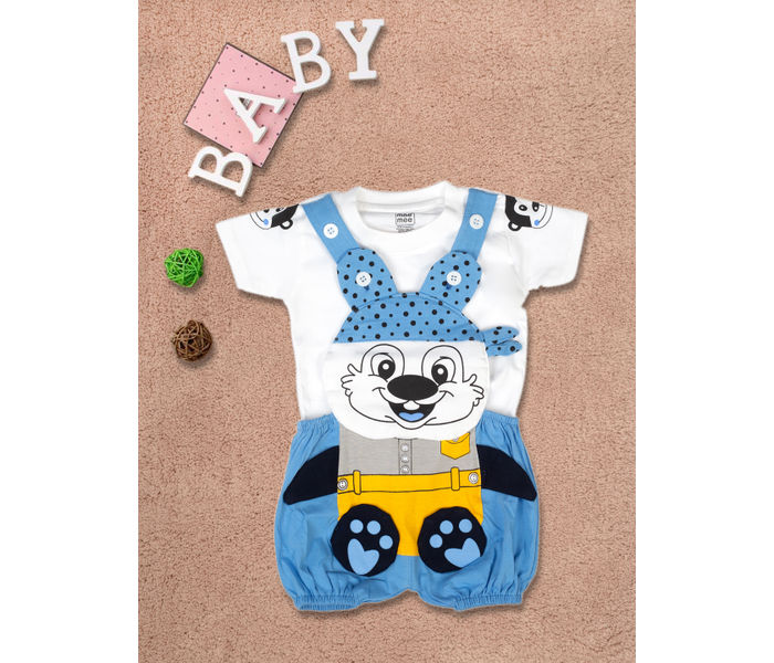 Mee Mee Short Sleeve Tee Chipmunk Dungaree Set