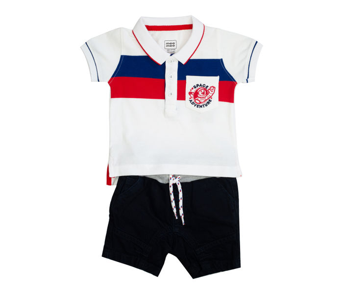 Mee Mee Kids Stripes Tee & Denim Shorts Set