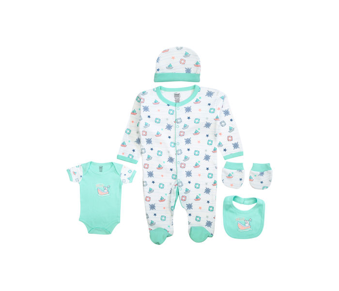 Mee Mee Clothing Gift Set – Pack Of 5 – Mint Green & White