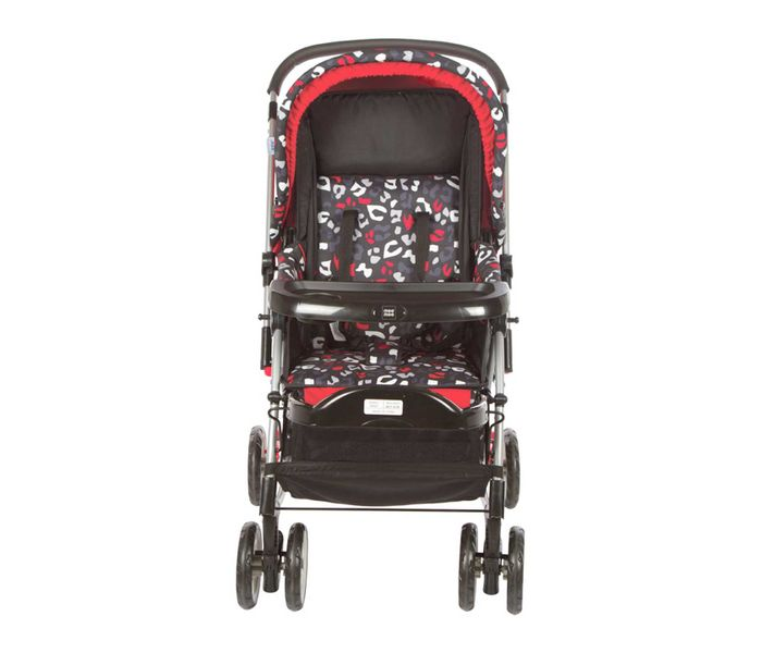 Mee Mee Baby Pram with Rocker and 3 Seating Positions (Red Printed)