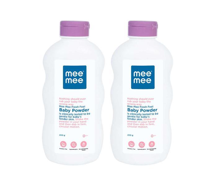 Mee Mee Fresh Feel Baby Powder, 200g (Pack of 2)