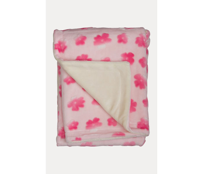 Light Pink Double Layered Blanket with 3D Printing