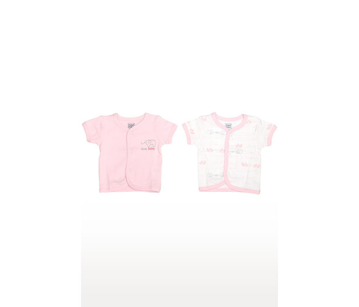 Pink and White Printed Top - Pack of 2
