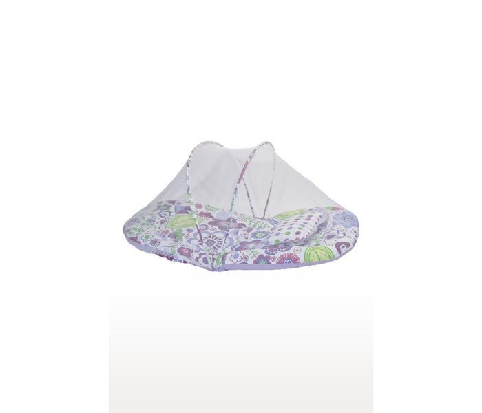 Purple Printed Mattress Set