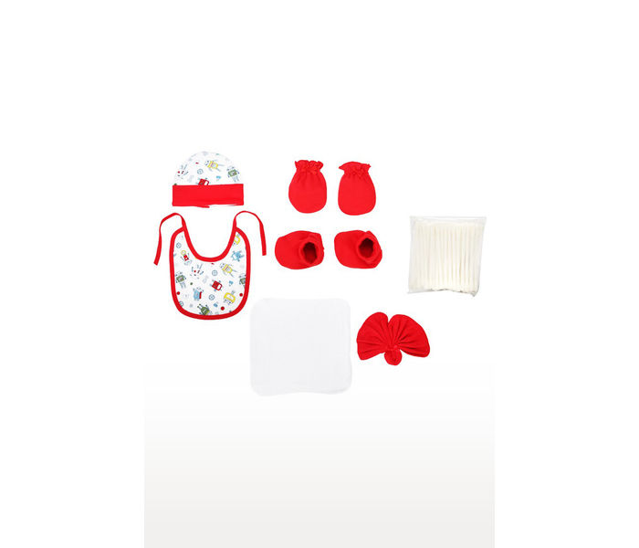 Red Pampering Gift Set for New Born - 9 Pieces