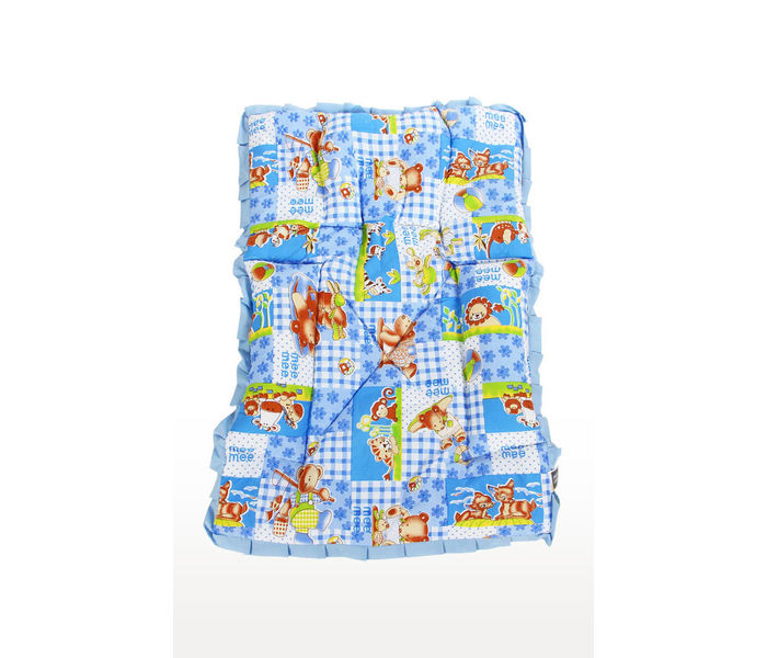 Mee Mee Baby Mattress Set with Neck Pillow and Bolsters – (Blue)